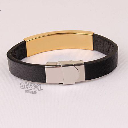 دستبند چرم مردانه مونت بلانک