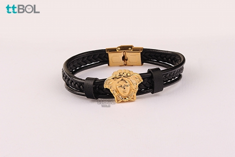 دستبند مردانه چرم