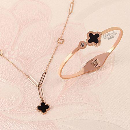 گردنبند و دستبند زنانه استیل
