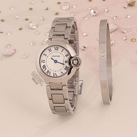 دستبند و ساعت زنانه کارتیر