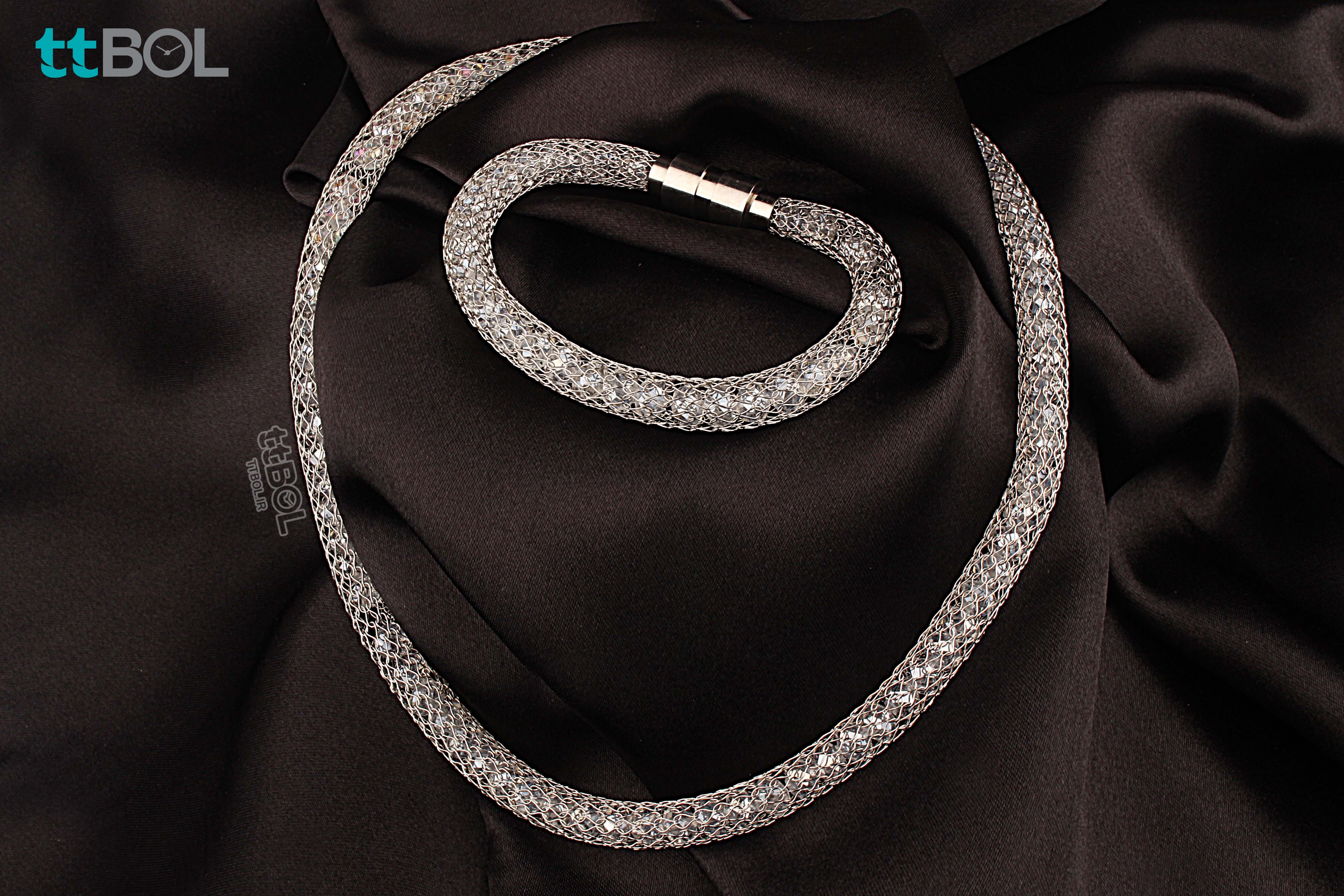 گردنبند و دستبند زنانه مجلسی