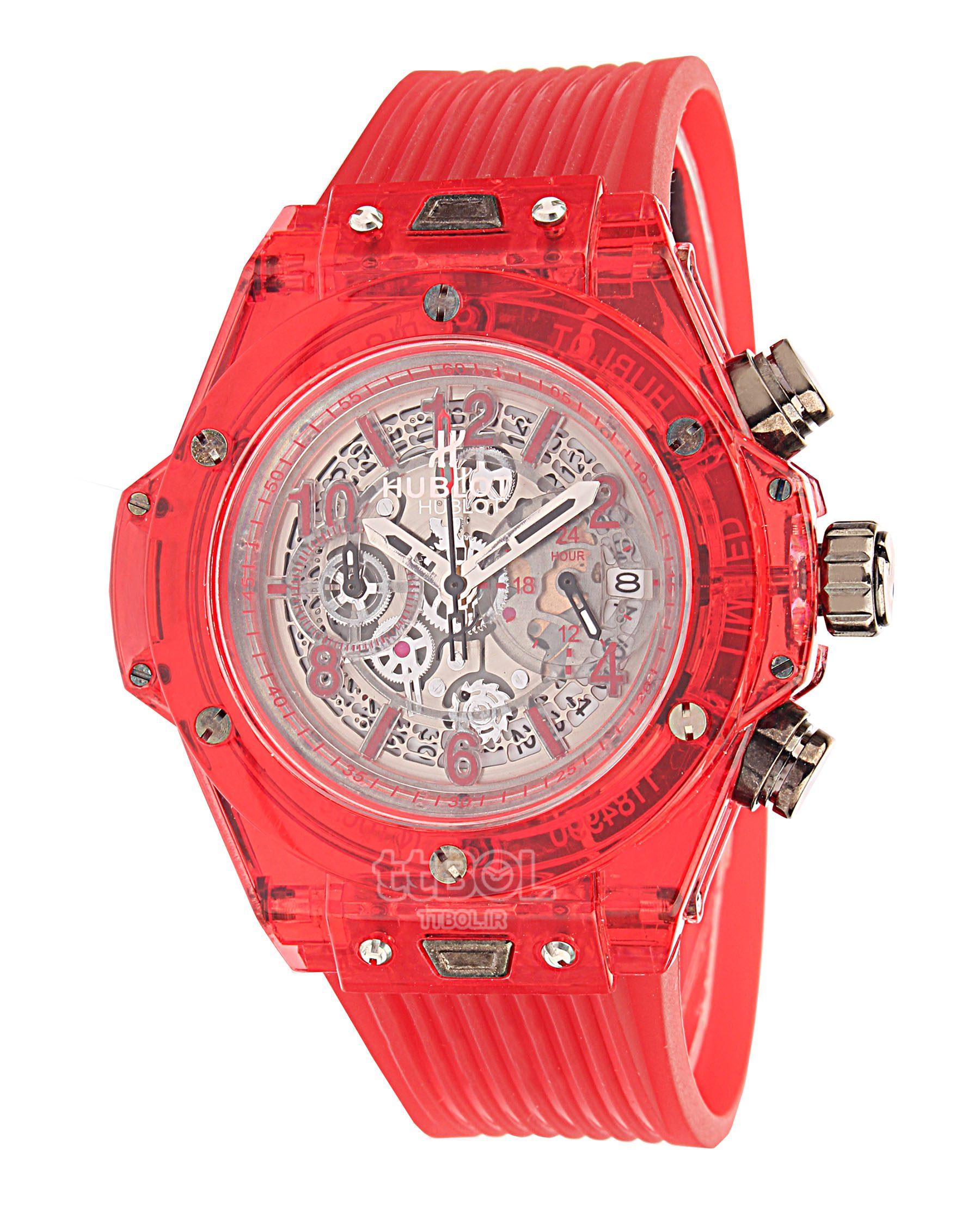 ساعت مچی قرمز زنانه دخترانه عقربه ای هابلوت 2019