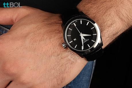 ساعت مردانه بند چرم تیسوت