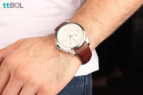 ساعت مردانه بند چرم رومانسون