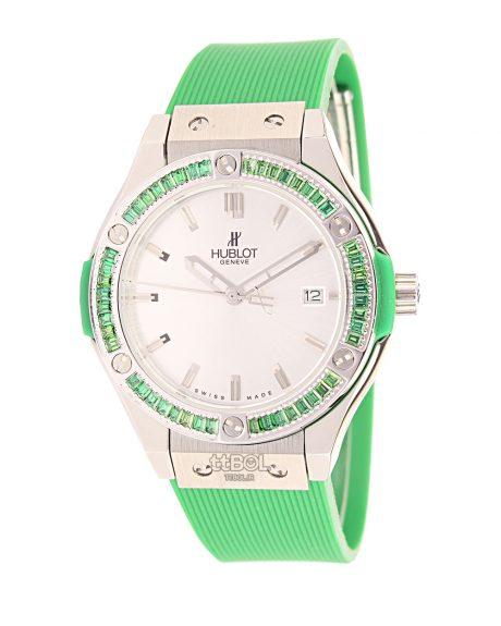 ساعت مچی هابلوت ارزان رنگ سبز فسفری