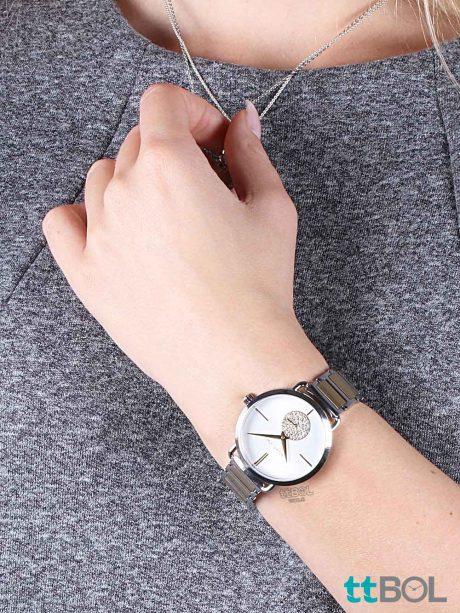 ساعت زنانه بند فلزی