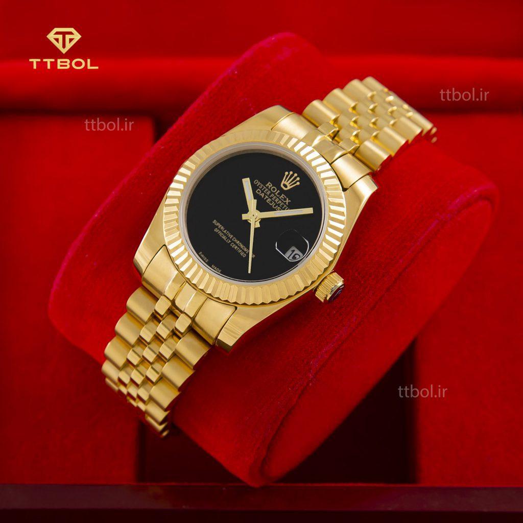 ساعت رولکس زنانه طلایی
