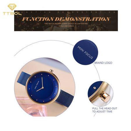 ساعت مچی زنانه مینی فوکوس MINI FOCUS MF-0179L BE/RE